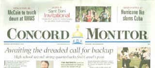 CONCORD MONITOR September 9, 2008. Melanie Asmar