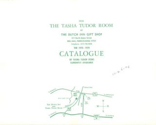 FROM THE TASHA TUDOR ROOM AT THE DUTCH INN GIFT SHOP . . . THE 1978-1979 CATALOGUE OF TASHA TUDOR...