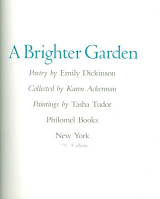 A BRIGHTER GARDEN; . Collected by Karen Ackerman