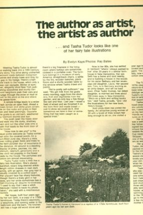 BOSTON SUNDAY GLOBE MAGAZINE, Sept. 18, 1977. Evelyn Kaye.