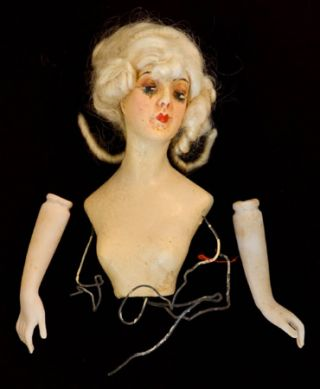 WAX HALF-DOLL (FLAPPER 1920s