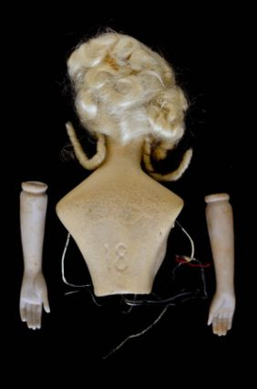 WAX HALF-DOLL (FLAPPER 1920s)