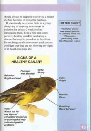 ALL ABOUT YOUR CANARY; A Complete Pet Owner's Manual