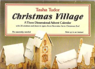 CHRISTMAS VILLAGE; : A THREE DIMENSIONAL ADVENT CALENDAR WITH 24 WINDOWS AND DOORS TO OPEN - FROM...