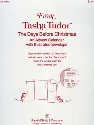 FROM TASHA TUDOR AN ADVENT CALENDAR THE DAYS BEFORE CHRISTMAS