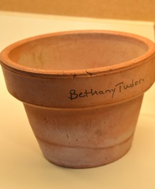 RED CLAY FLOWER POT from Tasha Tudor's garden