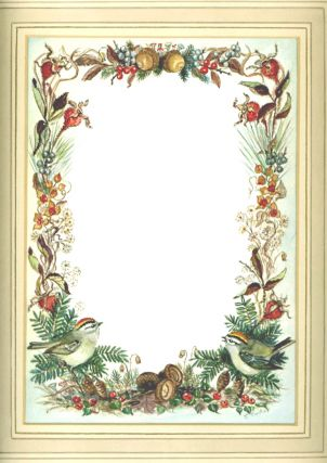 FALL BORDER FOR CHRISTMAS CARD Irene Dash No. FT 93-82F