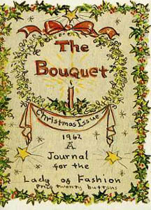 The BOUQUET; CHRISTMAS ISSUE 1962. A JOURNAL FOR THE LADY OF FASHION. Tasha Tudor