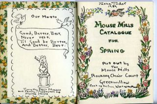 MOUSE MILLS CATALOGUE FOR SPRING