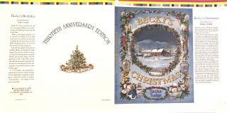 BECKY'S CHRISTMAS [Dust jacket for thirtieth anniversary edition]; Proof Sheet. Tasha Tudor