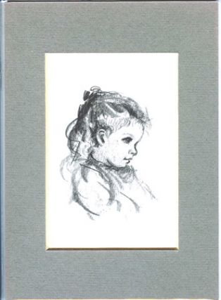 FROM TASHA TUDOR'S SKETCHBOOK: STUDY OF EFNER AS A YOUNG GIRL. Tasha Tudor