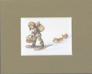 """IRENE DASH CARD FRONT MATTED , ID EE 78-96J """"Cheerful chore"""""""