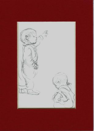 FROM TASHA TUDOR'S SKETCHBOOK: Two little boys. Tasha Tudor