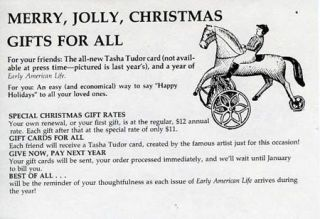 MERRY, JOLLY, CHRISTMAS GIFTS FOR ALL [Early American Life advertisement]