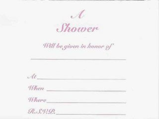 JWP INVITATION TO A SHOWER BABY OR WEDDING