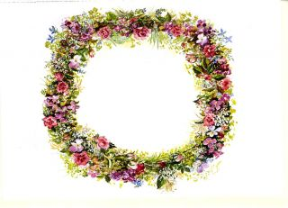 JWP CO 33a B SUMMER WREATH [Blank