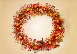 JWP CO 62a B CHRISTMAS WREATH [Blank
