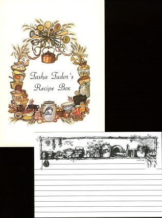 TASHA TUDOR RECIPE CARDS WITH TASHA TUDOR'S RECIPE BOX LABELS