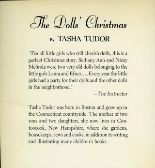 The DOLLS' CHRISTMAS