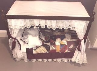 DOLL FURNITURE CANOPY BED