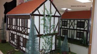 DOLL FURNITURE TUDOR STYLE DOLL HOUSE