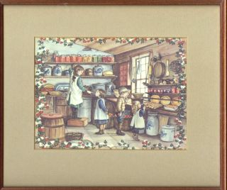 "FRAMED MATTED RARE CARD ""TASHA'S PANTRY"" ID GT 70-93K"