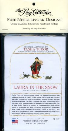 """LAURA IN THE SNOW"" TASHA TUDOR'S Counted Cross Stitch Kit"