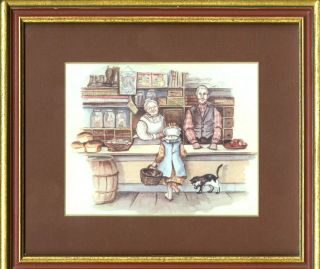 """""""BECKY'S BIRTHDAY """" FRAMED and MATTED PAGE #14 of Caleb's store"""