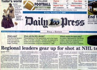 DAILY PRESS Sunday Nov. 3, 1996 101:308